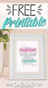 Free Christian printables from Being Confident of This - the community for women who are plagued by perfectionism and frustrated by failure. Christian encouragement|devotional thought|Bible study|Christian parenting|Christian marriage|Weight Loss