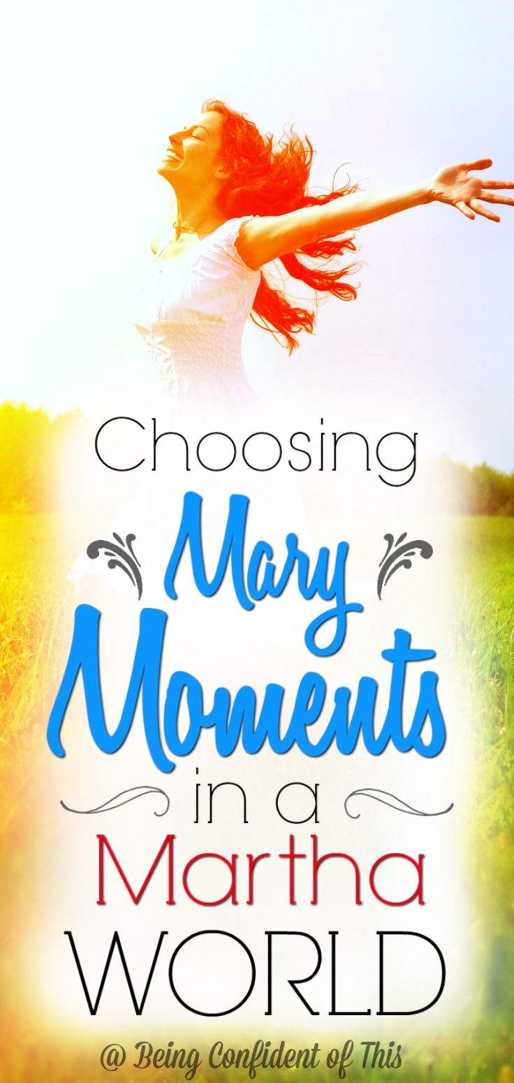 In a fast-paced world, we neglect the best things because we are busy with merely good things. Focus on choosing Mary moments in spite of your Martha world.