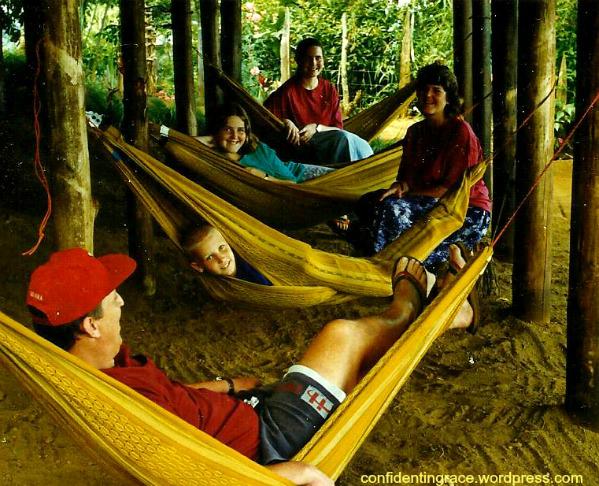 hammocks under png house