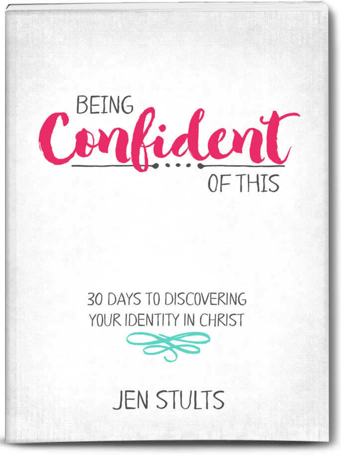 What if confidence really has nothing to do with self? Find out where real confidence comes from in Being Confident of This, a new devotional for Christian women by author Jen Stults. #BeingConfidentofThis #Christianbook #newrelease #Christianwomen confident faith | Christian growth | biblical truth | discipleship for women | women in the Word | overcoming insecurity | personality flaws | discovering identity in Christ | sanctification | work in progress| being a Mary instead of Martha | serving God | self-esteem | self-improvement | learning who God created you to be | overcoming perfectionism