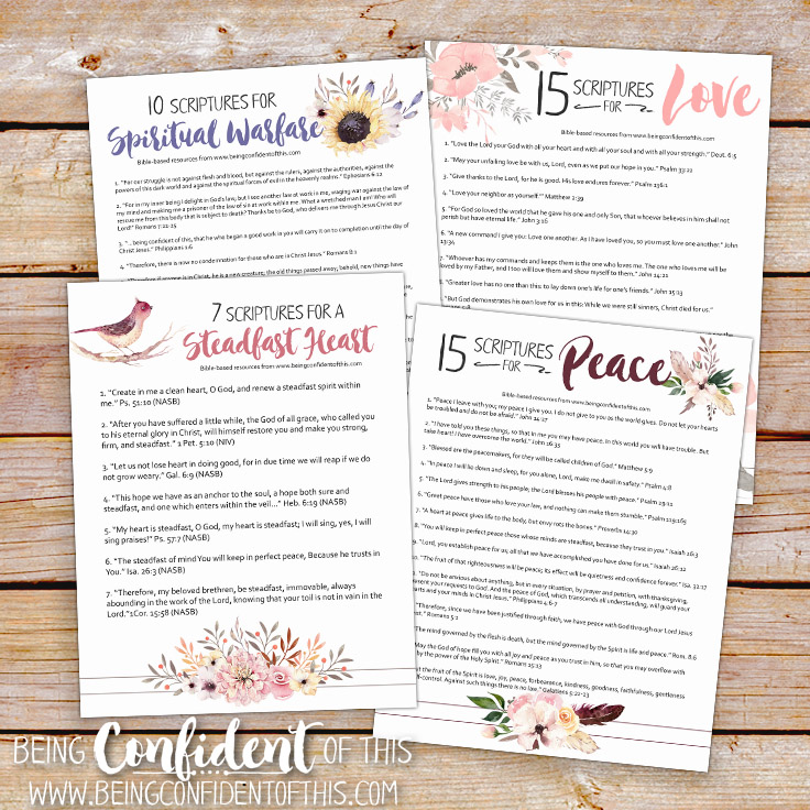 Is perfectionsim limiting you from experiencing the abundant life? These FREE printable resources will foster trust that leads to confidence! Free Bible printables from Being Confident of This. Christian women|bible study|printables|bibleverses|confidence|faith|spiritual growth|work in progress women