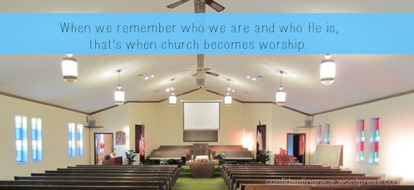 Sometimes even the pastor's wife doesn't feel like going to church.  Here's a change in perspective that moves us from church-going to true worship.  When Church Becomes Worship