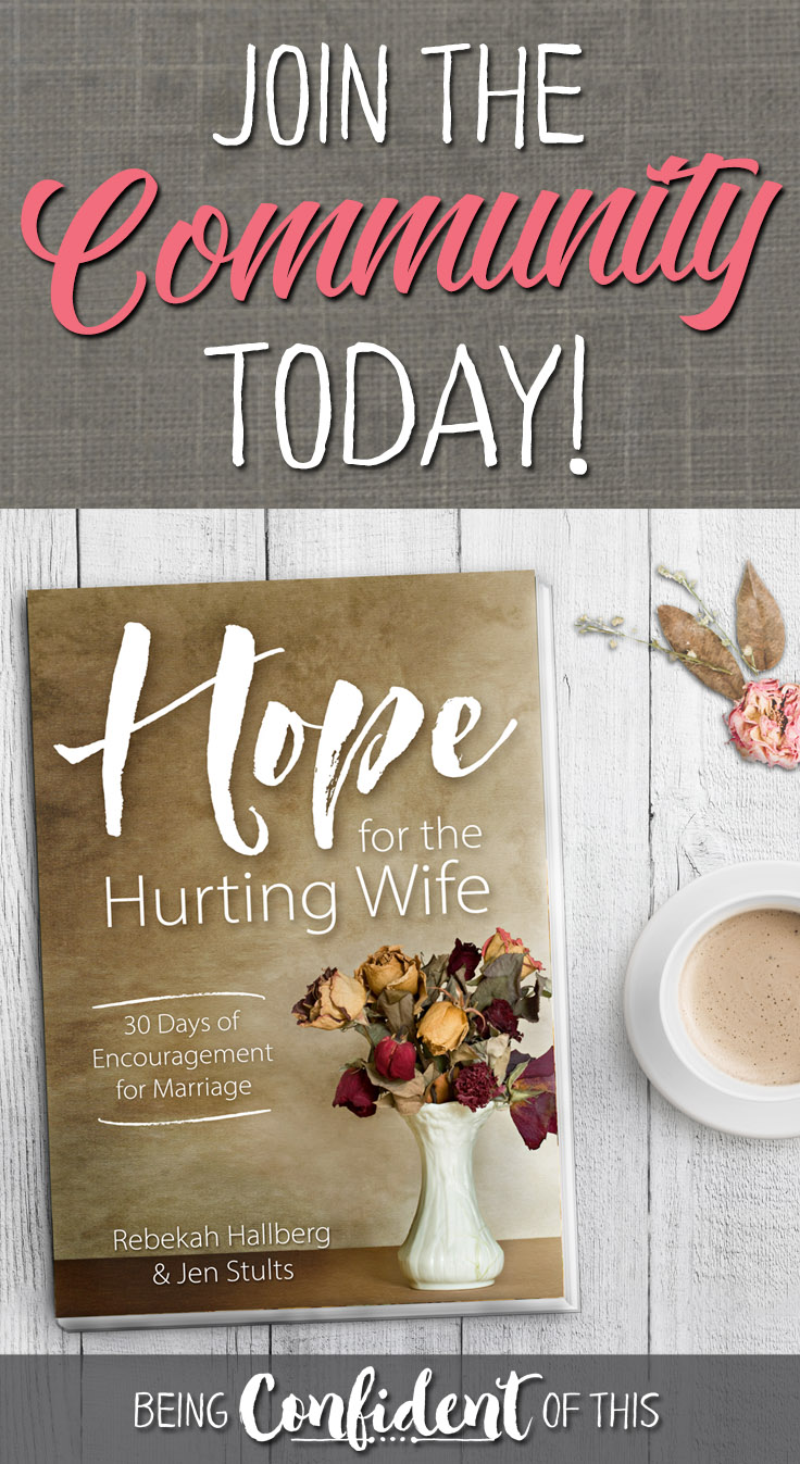 Hope for the Hurting Wife join community pin
