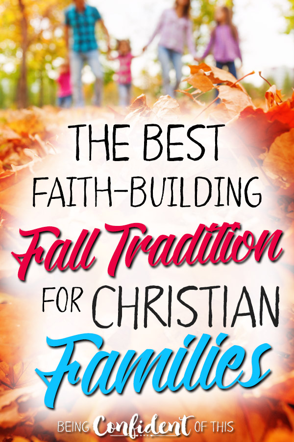 Start a new Fall tradition with your family by using this object lesson to build their faith! #falltradition #fallbucketlist #Christianfamily #discipleship family discipleship | training up kids | purposeful parenting | Christian parenting | family fun | family activity | pumpkin activity | object lesson using pumpkins | object lesson for Fall | Gospel-centered lessons for kids |Being Confident of This