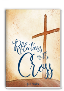 Grab your FREE 5-day, mini-devotional! Reflections on the Cross by Jen Stults is the perfect reminder to preach the gospel to yourself.  #christianwomen #freeprintable #biblestudy #devotional Being Confident of This | community of work-in-progress women | progress not perfection | identity in Christ | Christian confidence | godly confidence | gospel | Jesus | Easter meditations | resurrection meditations