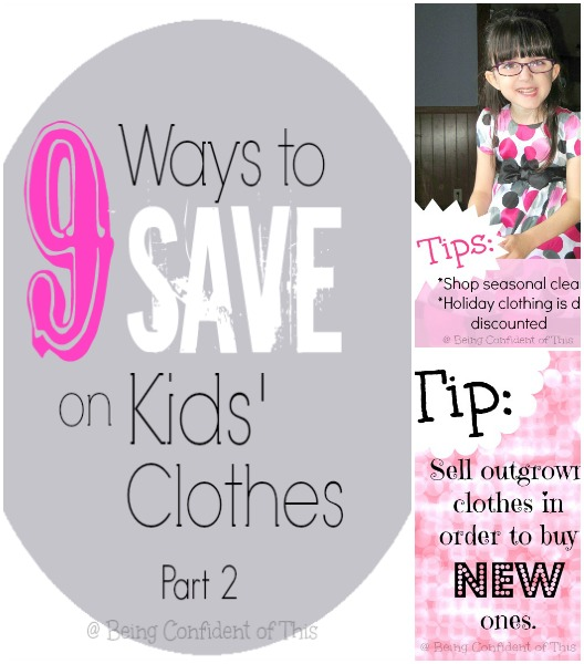 saving on kids' clothes, frugal living, saving money, clothing children, tight budget, single income