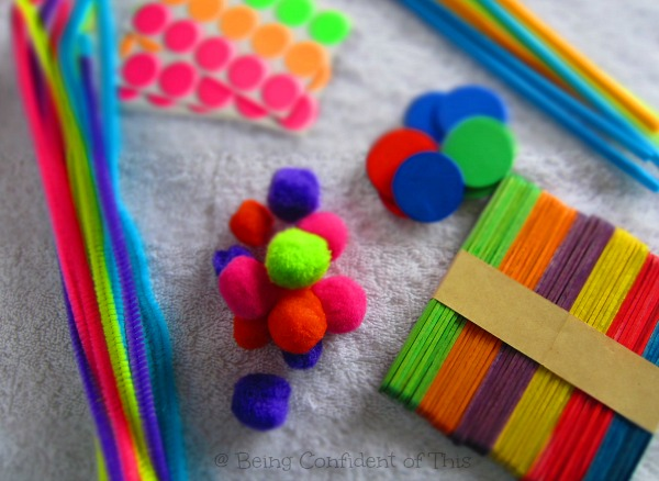 dollar store deals for homeschooling, craft supplies, frugal homeschool, cheap
