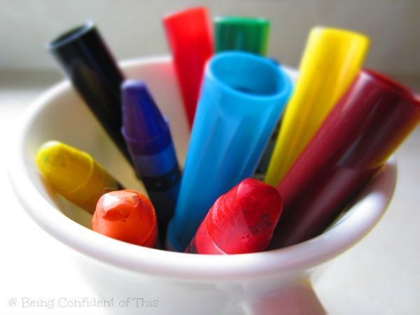 dollar store deals, crayons, markers, homeschool, preschool, toddlers