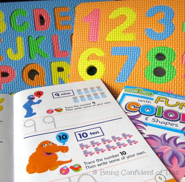 dollar store deals, learning tools, homeschool, preschool, toddler, workbooks, puzzles