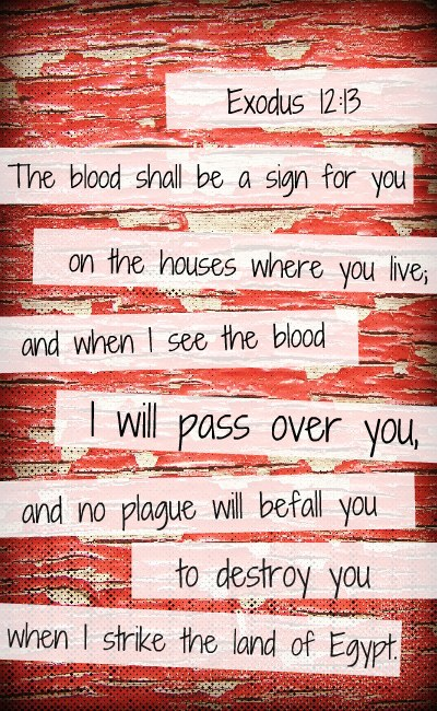 This is what it means to be painted red.  All of the mistakes, ugliness, and scars that were ours before are blotted out by bold, beautiful strokes in the hand of a Master who loves us enough to give a one and only Son. Painted Red What the first Passover means for us today