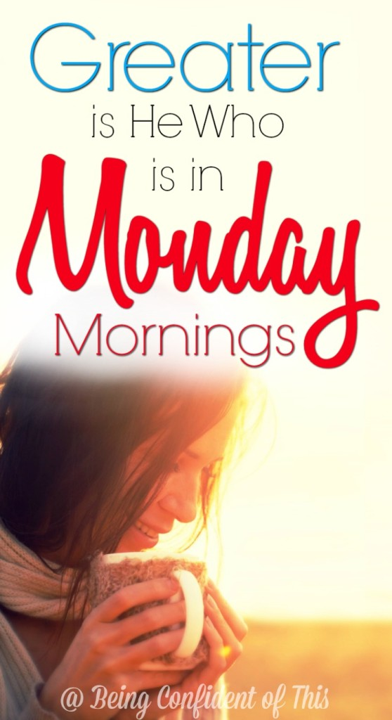 Why must Monday mornings be so incredibly difficult?  Maybe you were up and at 'em, ready for a fresh start, or maybe you're still in bed. Either way, your victory is on the line!