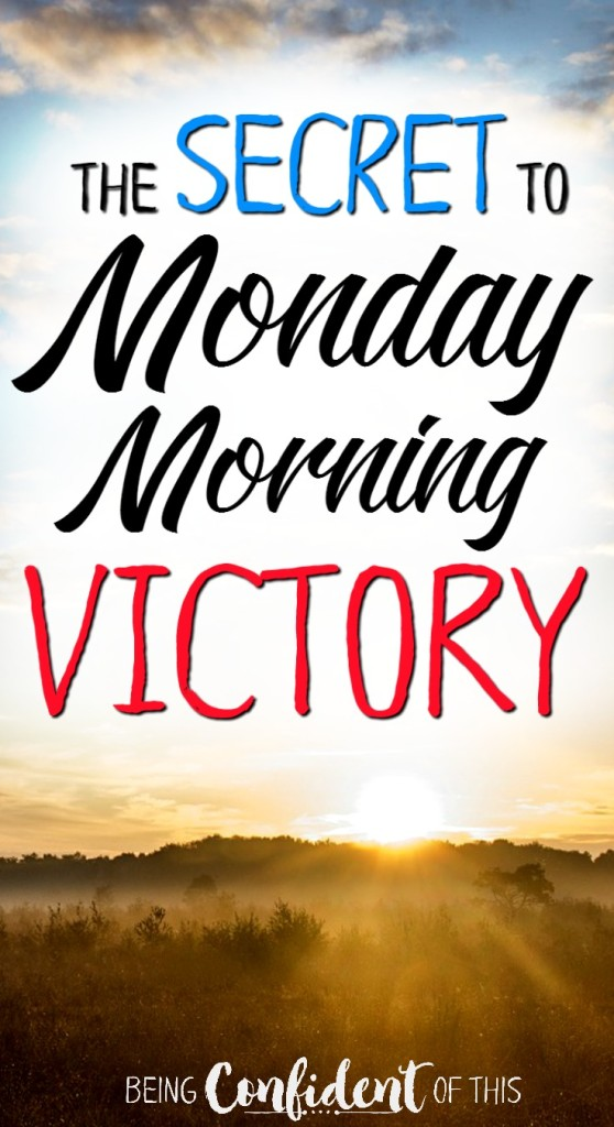 It's Monday again. You might still be tired from last week, or maybe you were ready for a fresh start but then all The Things happened at the same time and now you're a mess.  You can still experience victory today, friend! Don't miss this pep talk on the secret to overcoming and a Monday morning victory! For moms, wives, and other weary women.