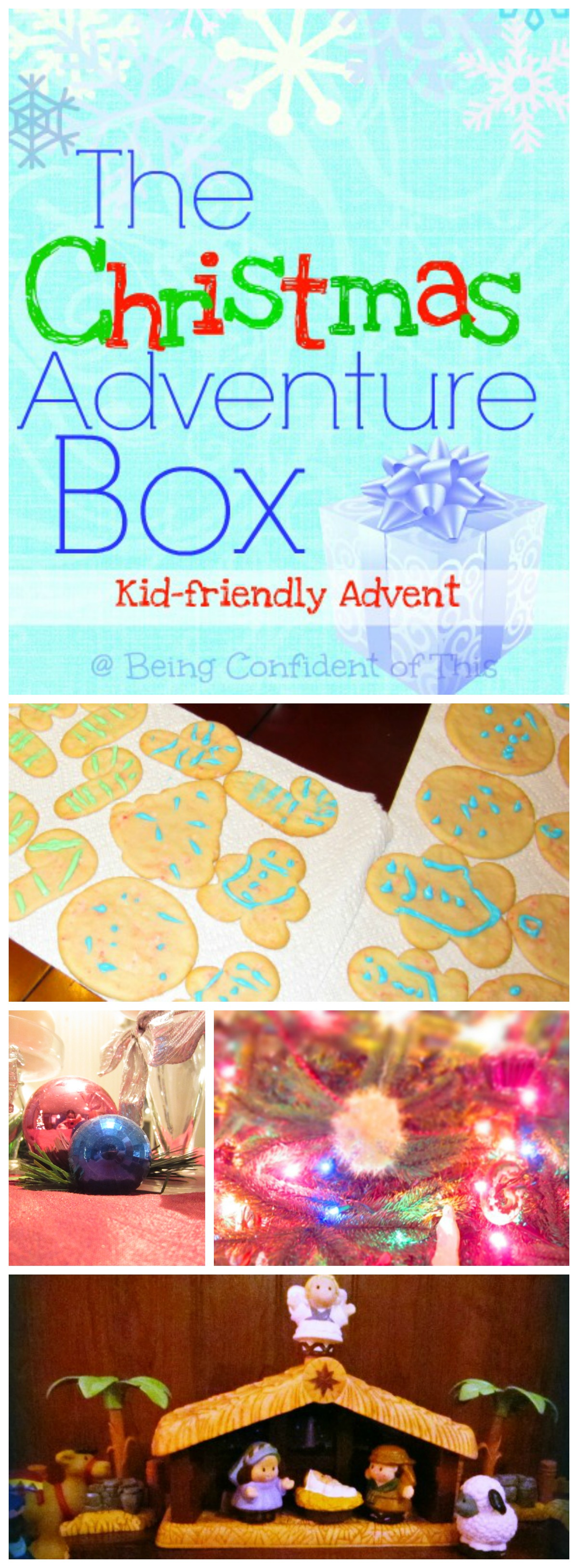 The Christmas Adventure Box is a fun, frugal, and kid-friendly activity for advent that will teach your children the true reason for celebrating the Christmas season!  Learn the spiritual significance behind some of our favorite Christmas traditions, such as Christmas trees, lights, stockings, and even candy canes!