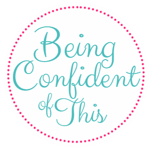 Being Confident of This button, grace for the work-in-progress woman, knowing your identity in Christ and living from it