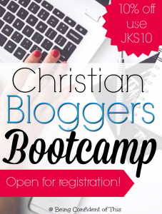 Are you a Christian Blogger who needs help growing your reach in a Christ-honoring manner? Look no further! Christian Bloggers Bootcamp offers practical strategies that are unique to the Christian blogging niche. Join now during open registration!