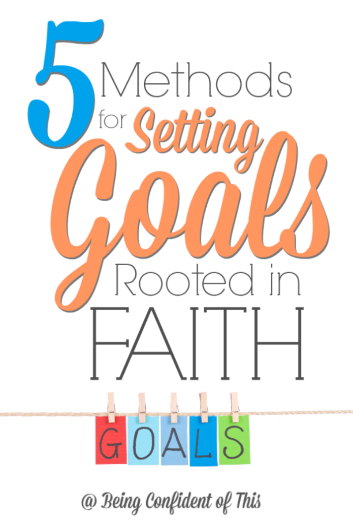 Goal-setting is no easy task, especially if you don't know how or where to begin.  To plan for success, follow these 5 methods for setting goals that are rooted in faith.  Bonus - one important resource to help you plan goals with grace! 5 Methods for Setting Goals Rooted in Faith