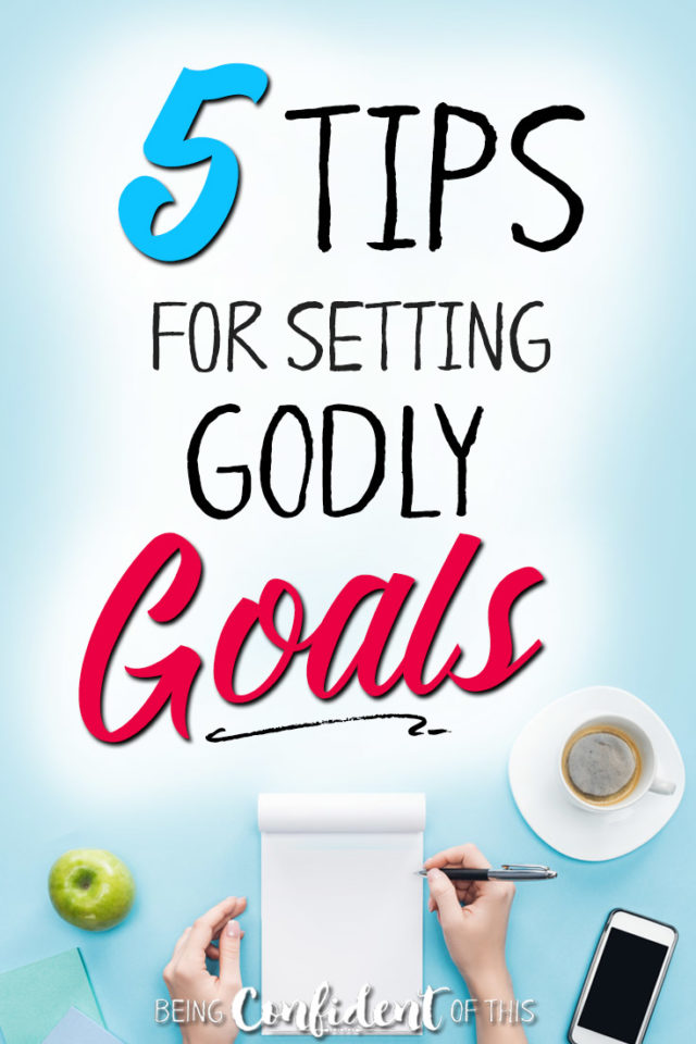 What direction does God have for you this year? How can you make sure your goal-setting process is rooted in faith rather than in worldly wisdom? #goals #goalsetting #faith #christianwomen Being Confident of This | tips for goal-setting | how to set goals for Christians | Christian resource | grace goals | godly goals | New Year | resolutions | practical tips | praying for God's direction | work in progress women