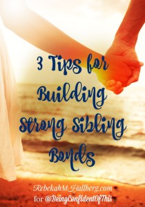 One way to build strong family bonds is to encourage healthy sibling bonds, also. This mom of three shares 3 tips for building strong sibling bonds.