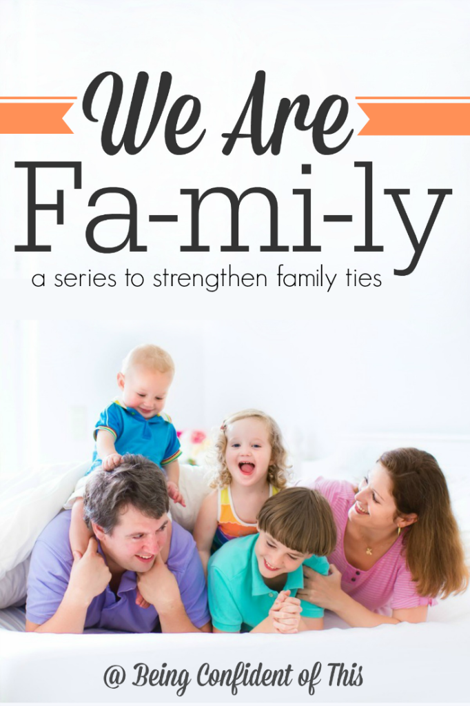 Why are some families so much more close-knit than others? What makes a strong family?  Join us for this series on strengthening family ties - We Are Family at Being Confident of This
