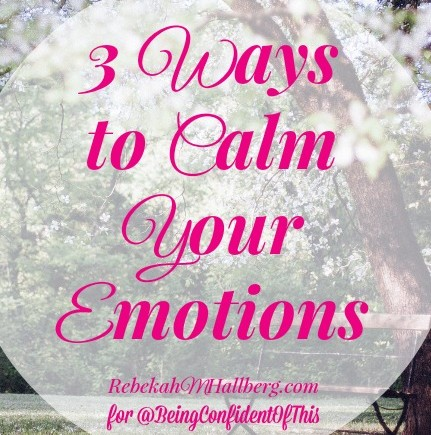 3 Ways to Calm Your Emotions ~ Before They Ruin Your Marriage