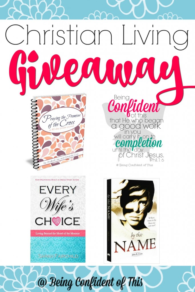 Enter for your chance to win four amazing Christian Living resources!  Christian Living Giveaway at Being Confident of This