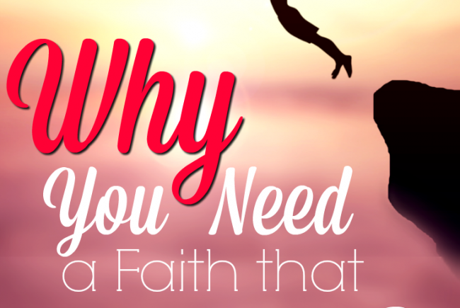 Why You Need to Take a Leap of Faith ~ and a Giveaway!