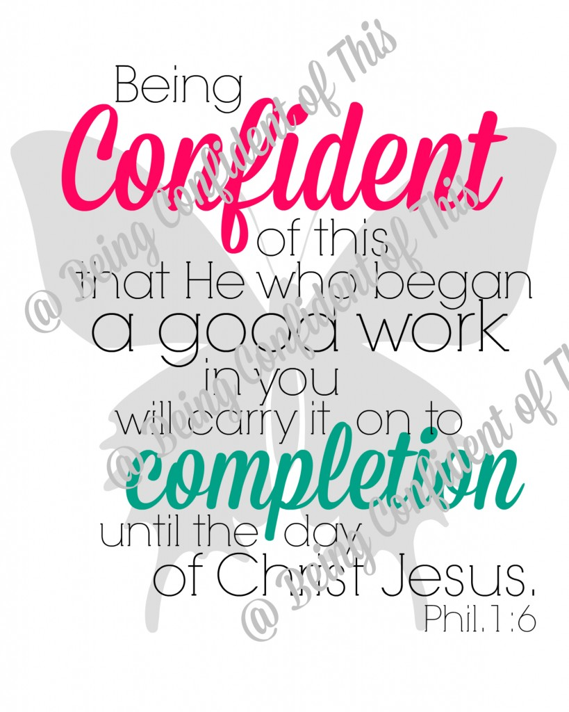 Subscriber Freebie for Being Confident of This ~ grace for the work-in-progress woman