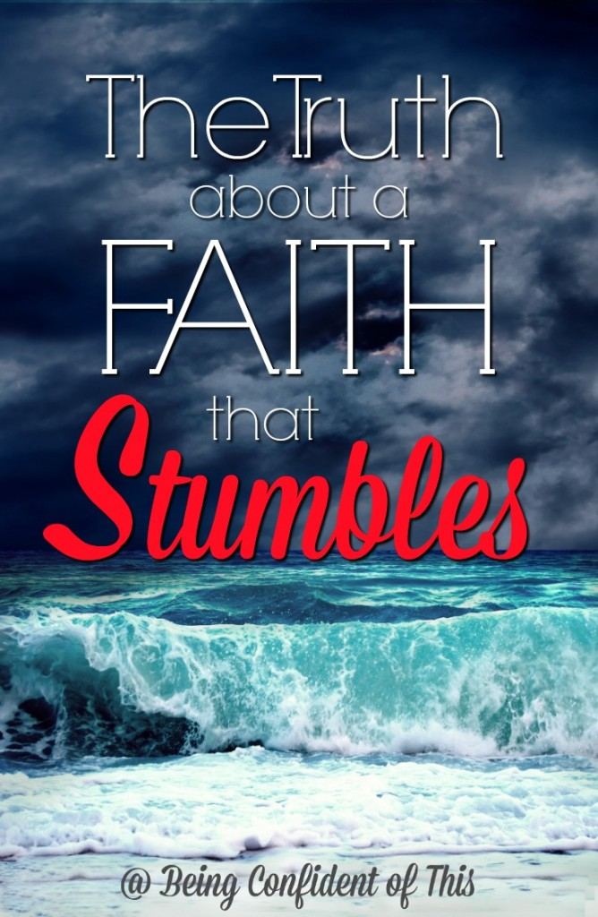 We've all heard the story of Peter walking on water, yet we often focus on the miracle itself rather than what it teaches us about faith. We want victorious faith - the kind that leaps and soars. But sometimes what we really need is a faith that stumbles on water. Click through to read more about why you need this kind of faith! Why You Need a Faith that Stumbles