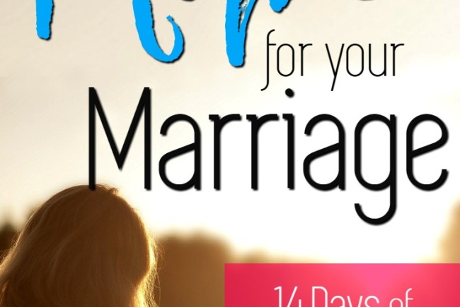 Finding Hope for Your Marriage ~ and a Free Gift