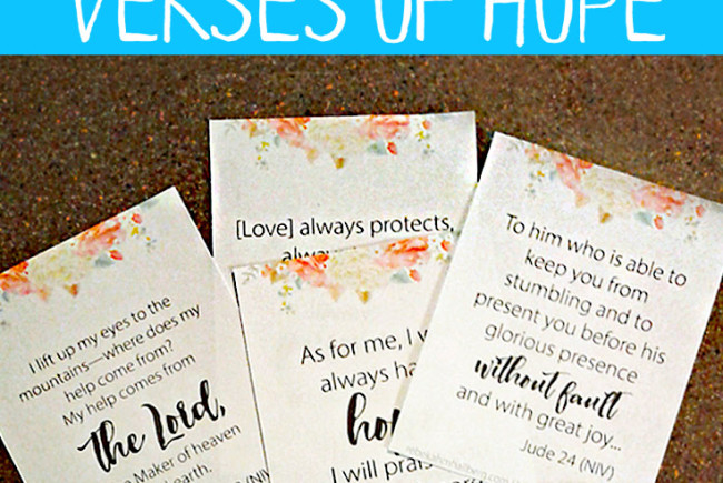 8 Verses of Hope for Every Woman (free printable!)