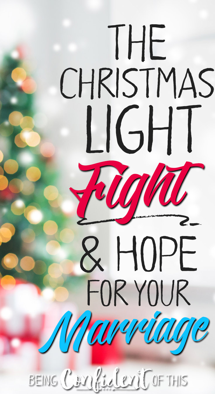 "What I learned from a Christmas light fight and the God who is ""with"" you. Hope for the Hurting Wife sale