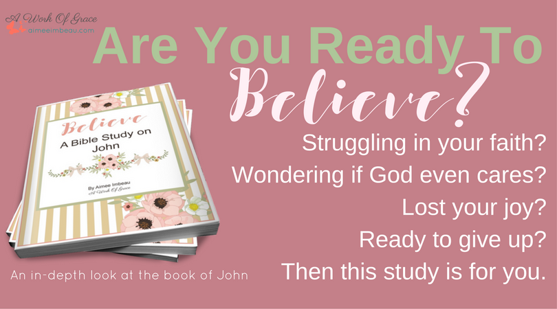 Do you ever feel like you're losing your faith? When It's Hard to Belive Jesus believing God|losing faith|struggling in faith|Christian women|Bible study|devotional|encouragement|trials|hard times|battling discouragement|prayer|being confident of this|a work of grace