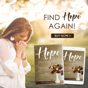 Are you unhappily married but longing for a happy marriage? Even Christian wives struggle during difficult seasons of married life! Hope for the Hurting Wife by Rebekah M. Hallberg and Jen Stults #marriagetips #hope #encouragement #devotional