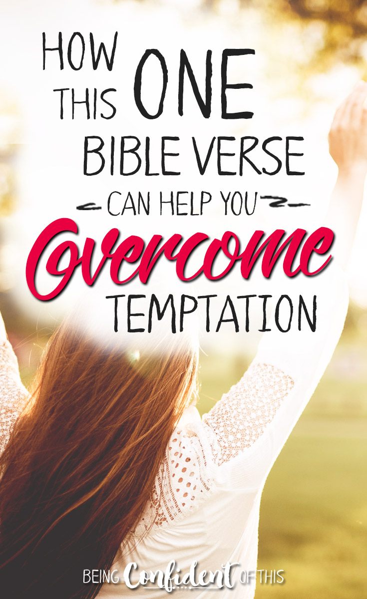 This is the best way to fight the Enemy's lies! Use God's Word to counter the attacks of the Accuser, just like Jesus did. Stand on God's truth and overcome! #overcome #encouragement #Bibleverse #workinprogresswomen Being Confident of This | devotional | Bible study | how to fight temptation | overcome Satan's lies | stand on God's truth | power of God's Word