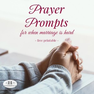 31 prayer prompts for when marriage is hard - free printable to help you focus on intercessory prayer for your marriage. #prayerguide #prayerprintable #prayingwife