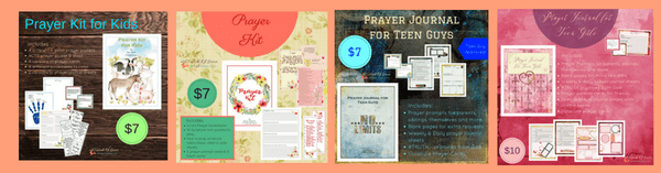 Family Prayer kits - help your family develop a habit of prayer using these templates and printables! #Christianfamily #prayerprintables #prayerkits