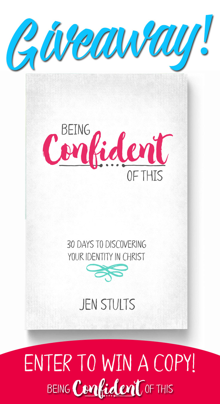 Celebrating Launch week for the new devotional, Being Confident of This by Jen Stults. Enter to win a FREE copy of Being Confident of This: 30 Days to Discovering Your Identity in Christ - a devotional journey for women of faith who want to experience confidence built on Christ! #giveaway #newrelease #BeingConfidentofThis #confidentchristianwoman  women's devotional | book luanch | Christian women| books for women | books for spiritual growth | confidence | overcoming insecurity | overcoming fear and doubt | identity in Christ | growing in faith |Bible study