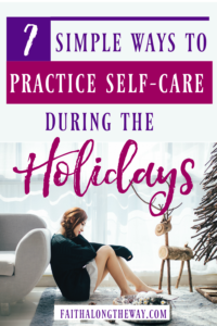In the holiday busyness, it's easy to let go of habits that ground us in peace. Being Confident of This #selfcare #Christmas #peace #overcomestress holiday sress | peaceful Christmas | keeping Christ in Chirstmas | practical tips | Free printable | devotional thought | Bible study | Christian women | work in progress women