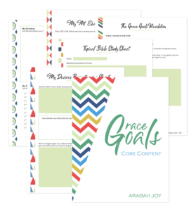 Approach goal setting from a biblical foundation! Learn how to recognize your godly desires with the Grace Goals workbook. #goals #NewYear #Christiangrowth Being Confident of This | Grace Goals | grace | goal-setting for Christian women | how to set godly goals | spiritual growth | plans | God's will | God's direction for my life | discerning God's plans | habits | change | new | set goals with confidence