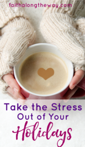 Follow these simple tips to prepare for the holidays to experience less stress and more peace this year! Being Confident of This #peacefulChristmas #lessstress #holidaytips stress-free Christmas | more peace this holiday | Christian women | Christian family | organize your Christmas | practical tips | Christmas advice | prepare for holidays
