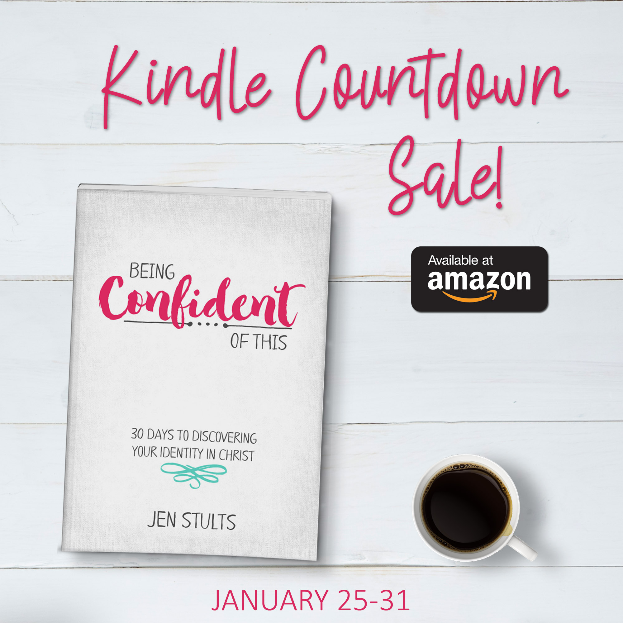 New devotional release from Jen Stults - Being Confident of This: 30 Days to Discovering Your Identity in Christ. This book is for every Christian woman who wants to walk in confident faith instead of struggling with doubt, fear, and insecurity! self-esteem | self-confidence | self-help | motivational | personal growth | spiritual growth | how to be more confident | Christian women | devotional | Bible study | identity in Christ | superwoman myth | being like Mary