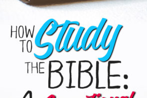 How to Study the Bible: 4 Resources