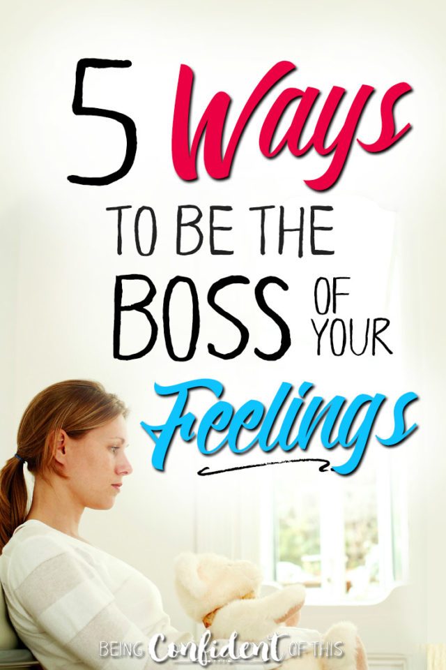 Do your feelings boss you around? Or do you boss them? Learn the biblical way to dealing with difficult emotions! #emotions #christianwomen #biblestudy #confidentfaith Being Confident of This | overcoming emotions | how to deal with emotions | Christian women and feelings | heart is deceptive | why Christian women can't trust our feelings | what the Bible says about emotions | depression | fear | anxiety | anger | confusion | confidence | hope | peace | encouragement for Christian women