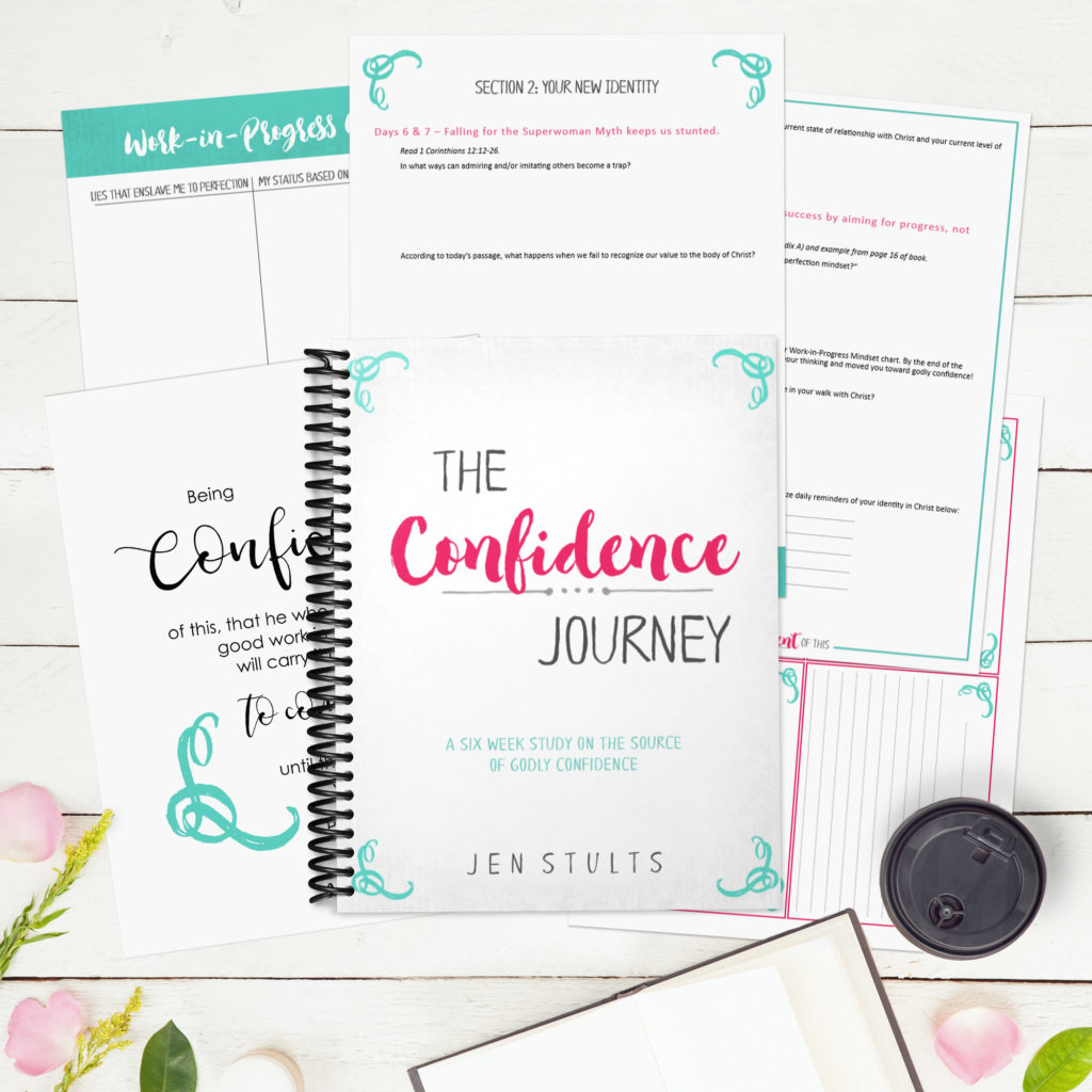 The Confidence Journey online Bible study experience. Study the root of authentic confidence with author Jen Stults this Fall! #biblestudy #onlinebiblestudyforwomen #confidencejourney
